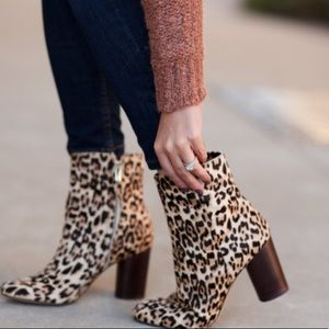 Sam Edelman Corra Leopard Booties 8.5